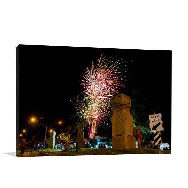 Goondiwindi Art Print Fireworks Photo Artwork