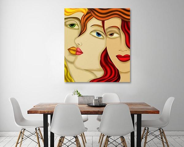 Gossip Print Artwork on the Wall