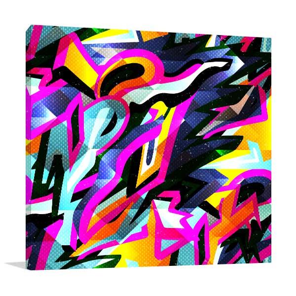 Graffiti Bright Psychedelic Canvas Art Prints
