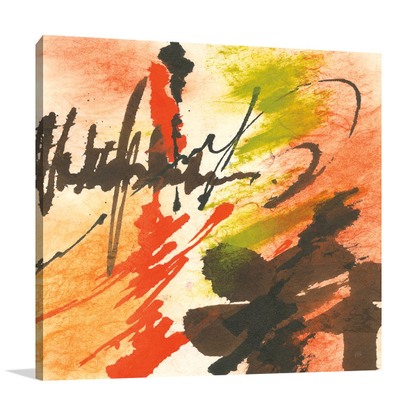 Graffiti Orange II  Canvas Print