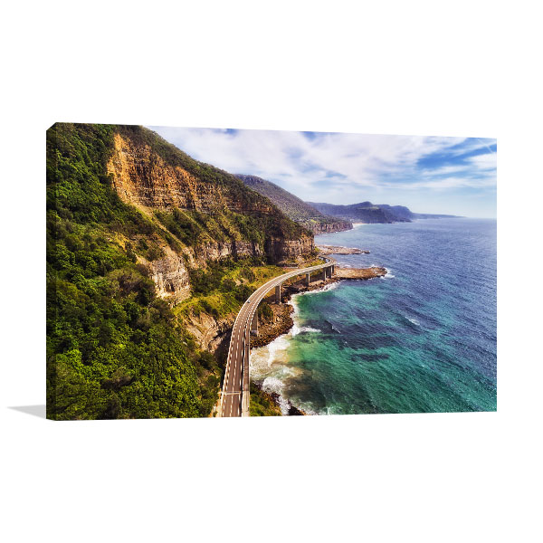 Grand Pacific Drive Wall Print NSW Aerial Art Picture