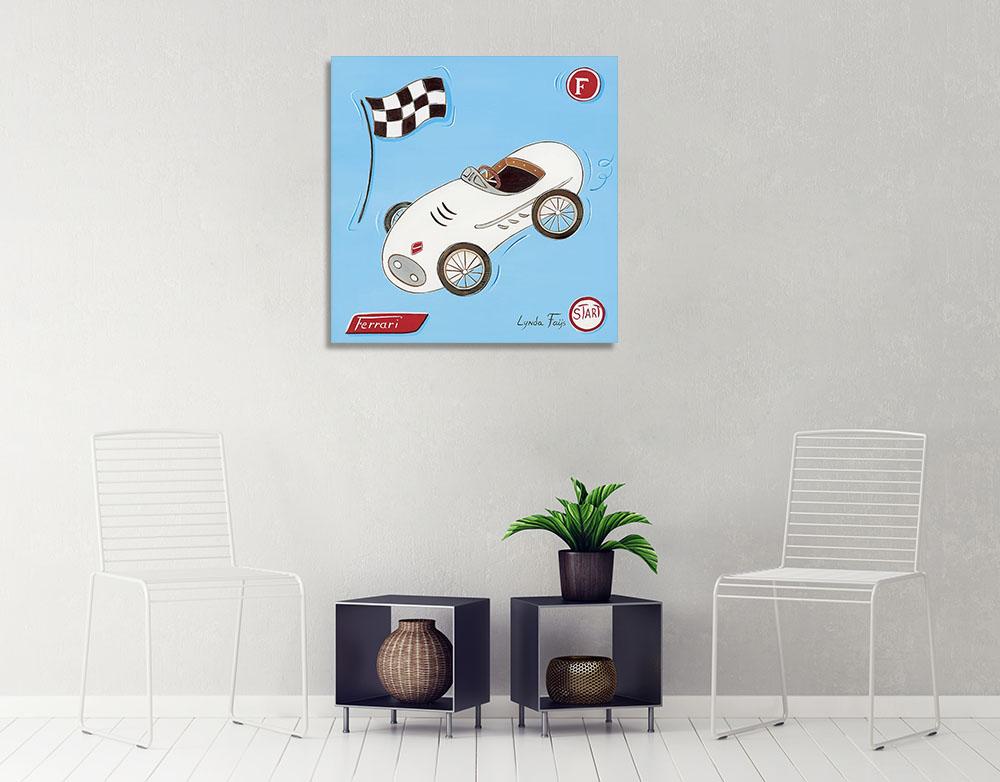 Race Car Canvas Print Wall