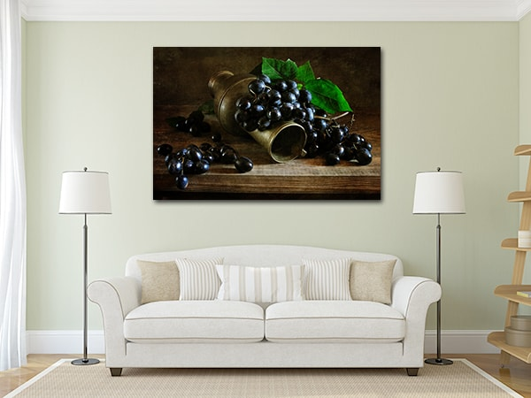 Grapes Canvas Artwork on the Wall
