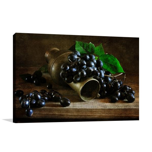 Grapes Print Artwork
