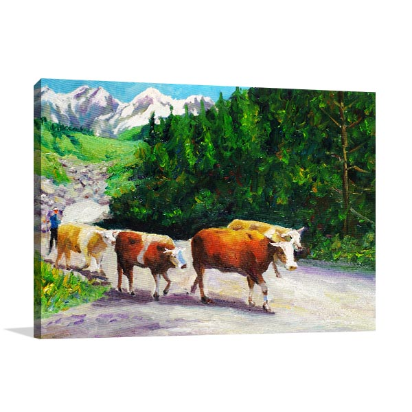 Grazing Bull Artwork