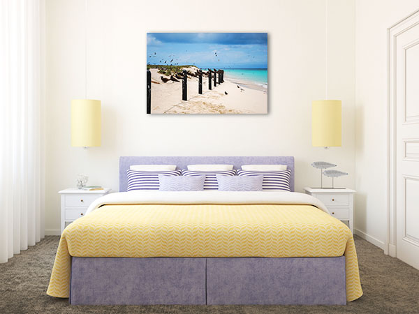 Great Barrier Reef Canvas Print Cairns Beach Art Picture