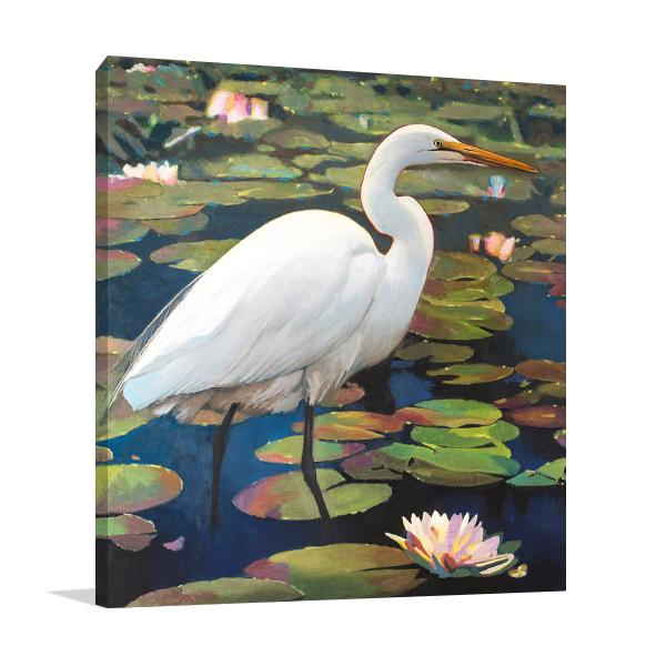 Great Egret Wall Art Print