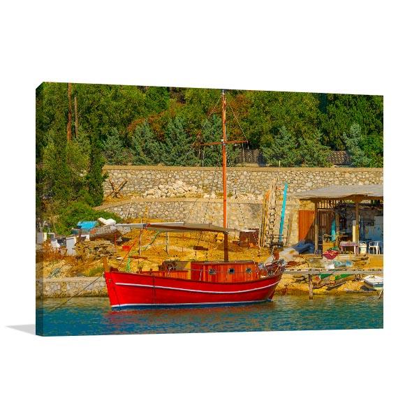 Greek Fishing Boat Wall Art