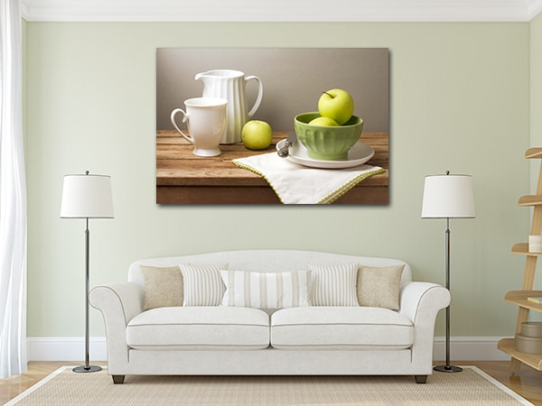 Green Apples Canvas Artwork on the Wall