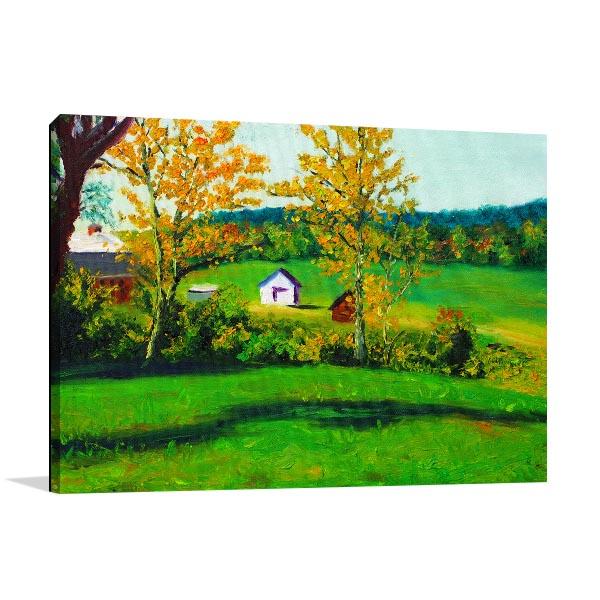 Green Farmland Wall Art