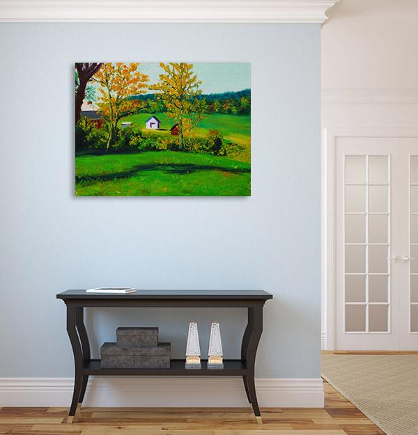 Green Farmland Canvas Prints