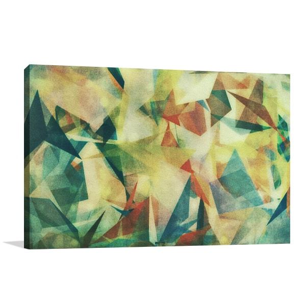 Green Geometric Prints Canvas