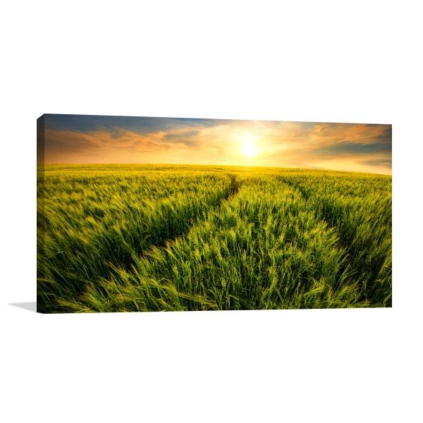 Green Landscape Canvas Artwork