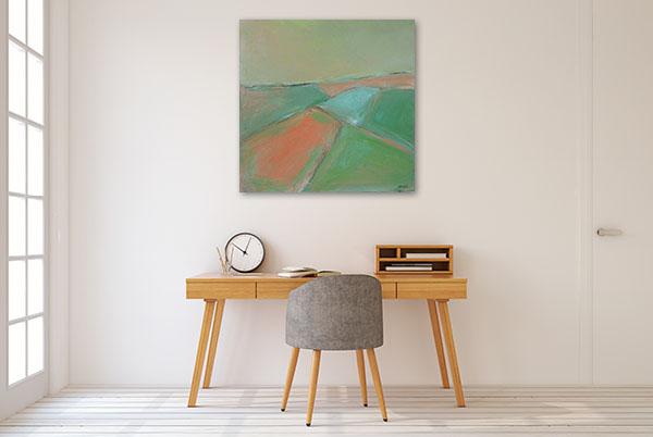 Brooke Howie | Green Landscape Canvas Arts