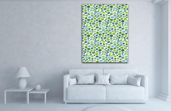 Green Pebbles Print Artwork