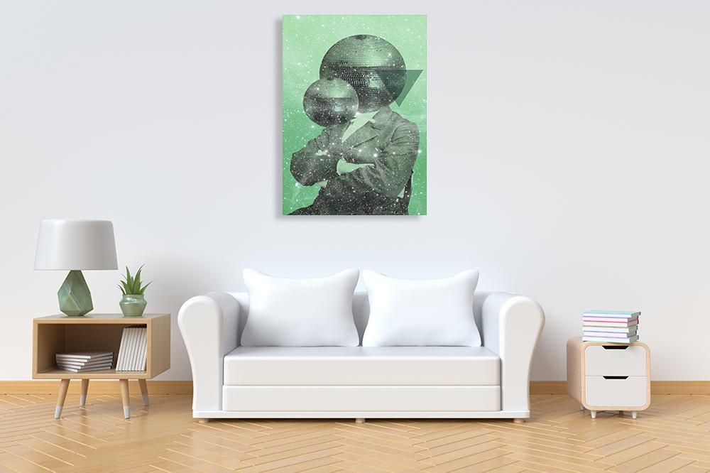 Green Surrealism Wall Print
