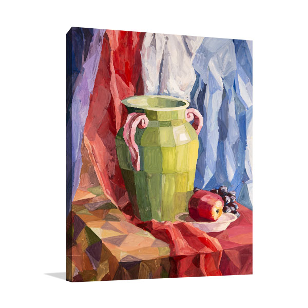 Green Vase Prints Canvas