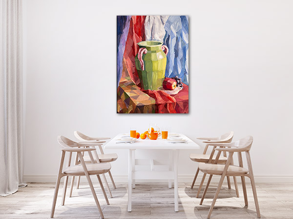 Green Vase Canvas Prints