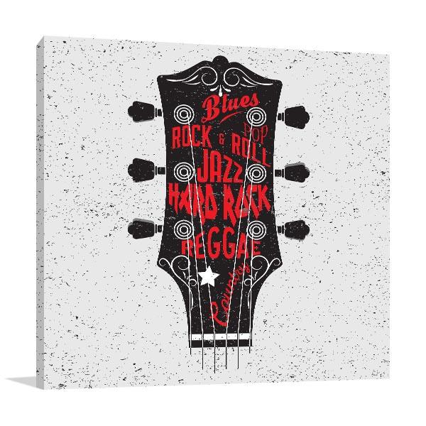 Guitar Typography Artwork