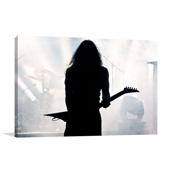 Guitarist Silhouette Art Prints