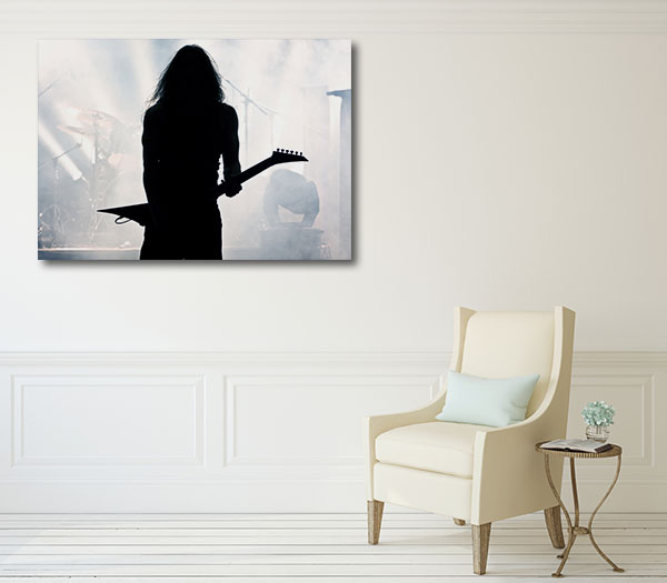 Guitarist Silhouette Canvas Prints