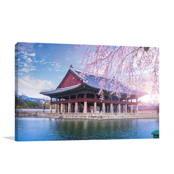 Gyeongbokgung Palace in Spring Canvas Prints