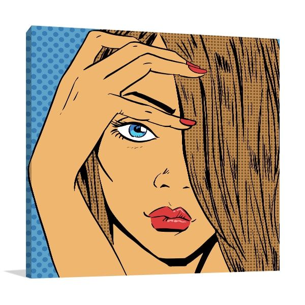 Halftone Face Canvas Art Print