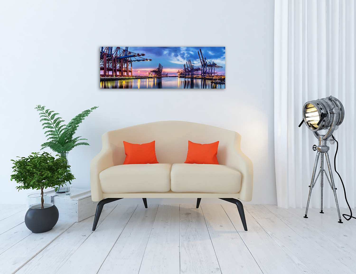 Panoramic Wall Print on Canvas