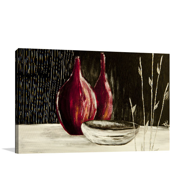 Hand Painted Bottles Canvas Art Prints