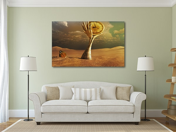 Hands and Clocks Art Print on the Wall