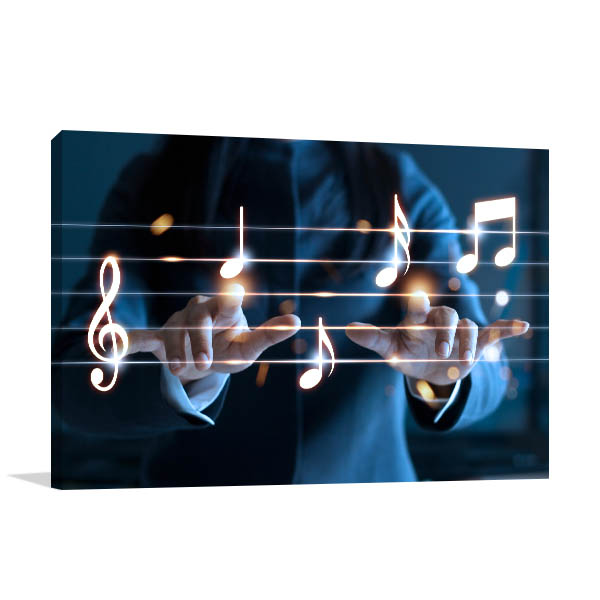 Hands Playing Prints Canvas