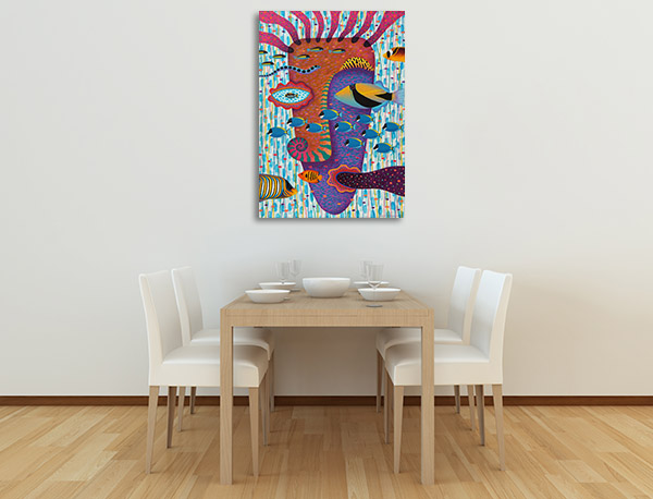 Happiness Underwater Canvas Prints