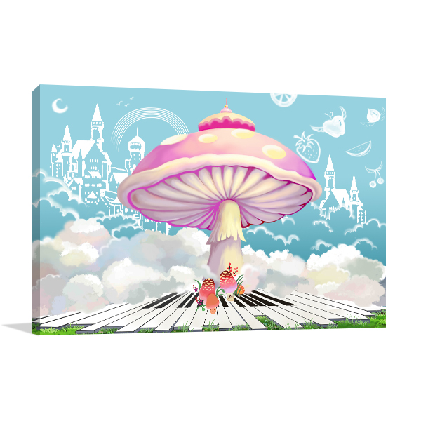 Happy Life Castle Print Artwork