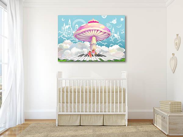 Happy Life Castle Prints Canvas