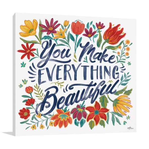 Happy Thoughts V Wall Art Print