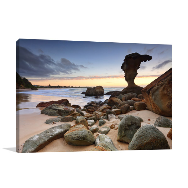 Hargraves Beach Canvas Print Noraville NSW Wall Artwork