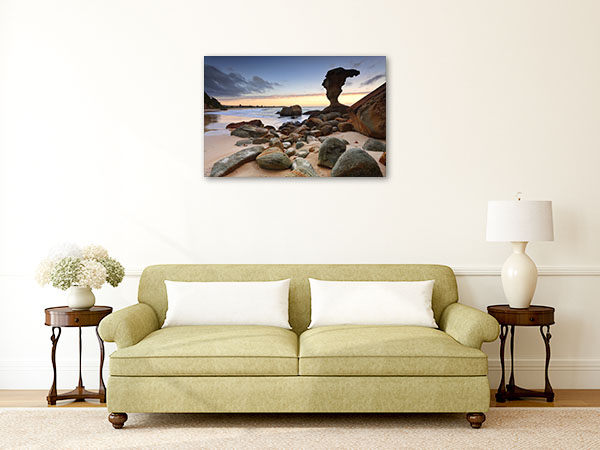 Hargraves Beach Canvas Print Noraville NSW Photo Art