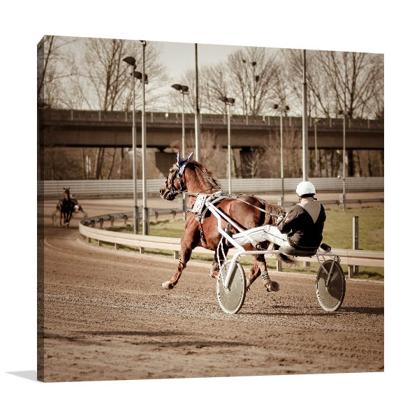 Harness Racing Horse Prints Canvas