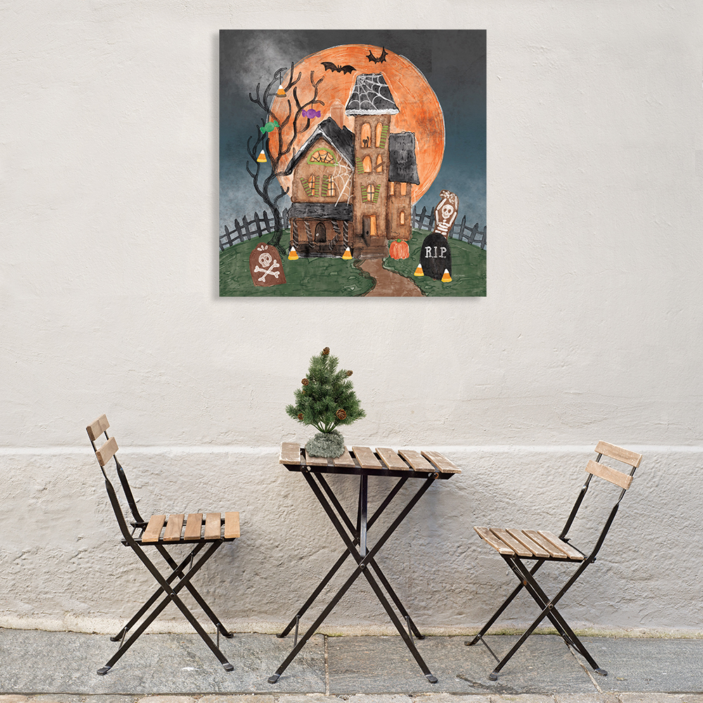 Square Wall Art Print on Canvas