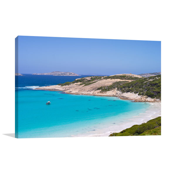 Haven Art Print Blue Beach