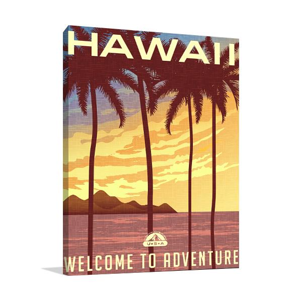 Hawaii Sunset Wall Art