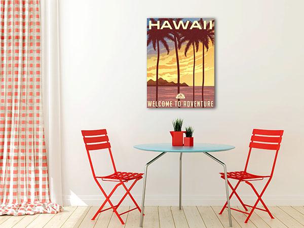 Hawaii Sunset Canvas Art Prints