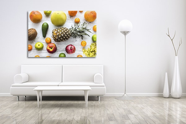 Healthy Food Prints Canvas