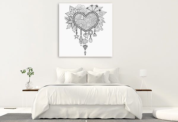 Heart Dream Catcher Canvas Prints
