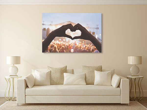 Heart Shape Prints Canvas