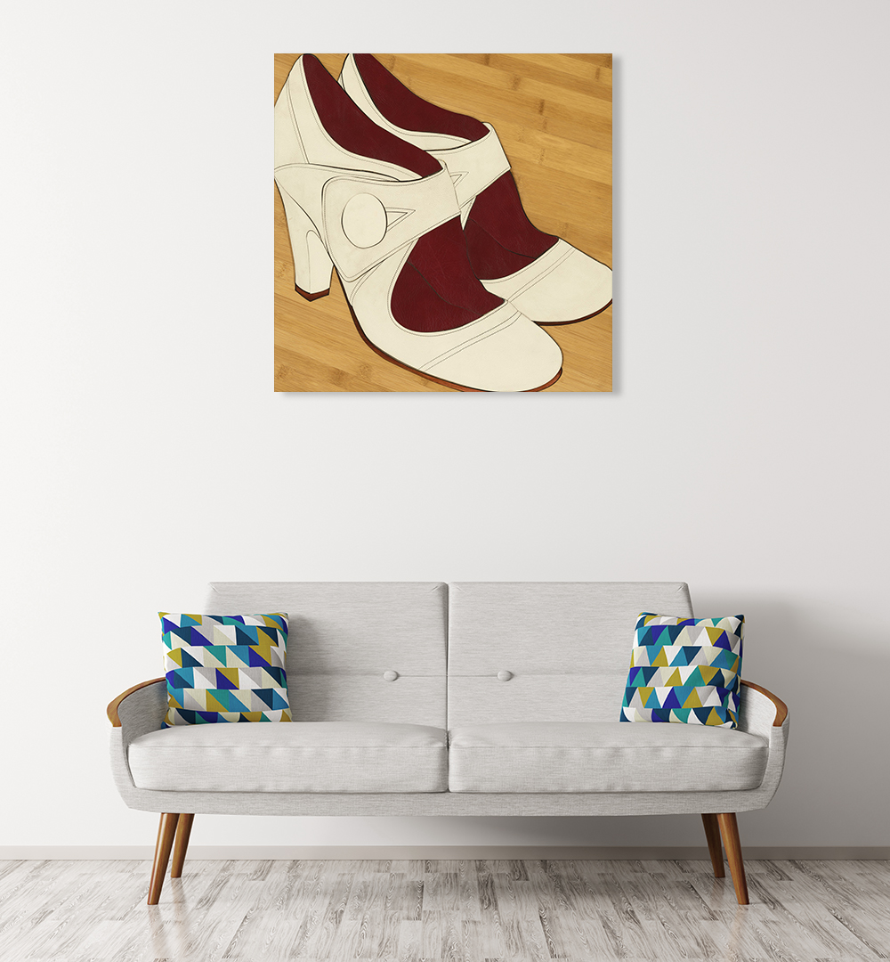 Shoe Photography Wall Canvas