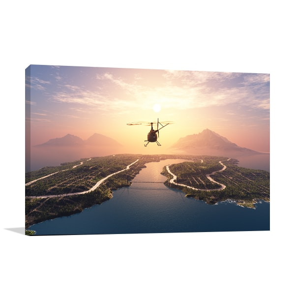 Helicopter Canvas Art Print