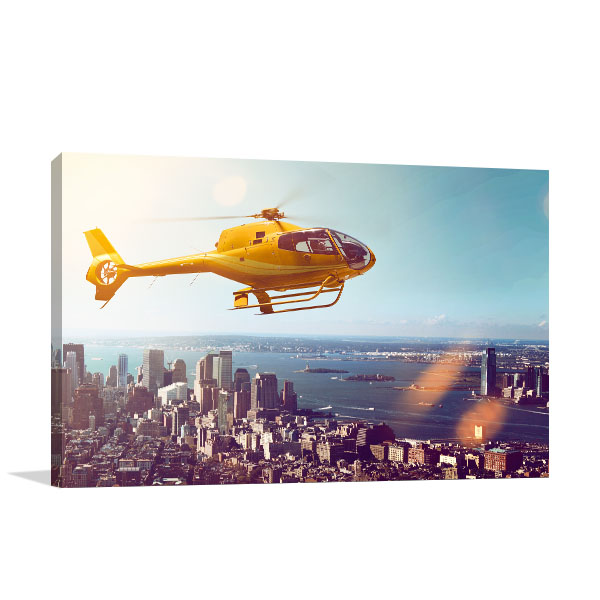 Helicopter Flight Canvas Art Prints
