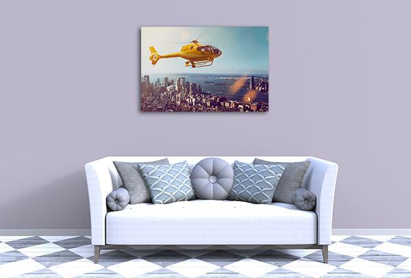 Helicopter Flight Artwork