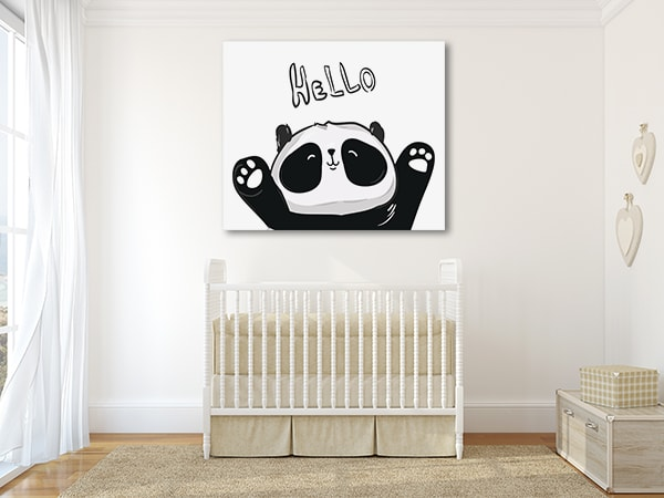 Hello Panda Canvas Art Prints